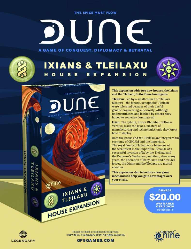 DUNE Ixian & Tleilaxu Expansion - Gale Force Nine
