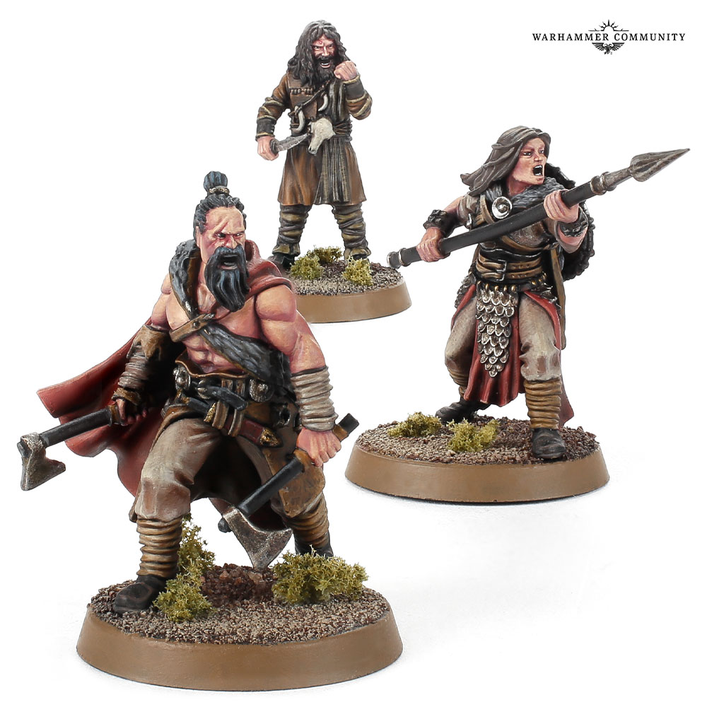 Gorulf Ironskin Frida Tallspear & Wild Man Oathmaker - Middle-earth