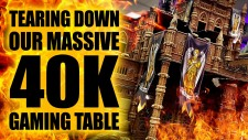 Tearing Down Our Massive Warhammer 40K Apocalypse Gaming Table