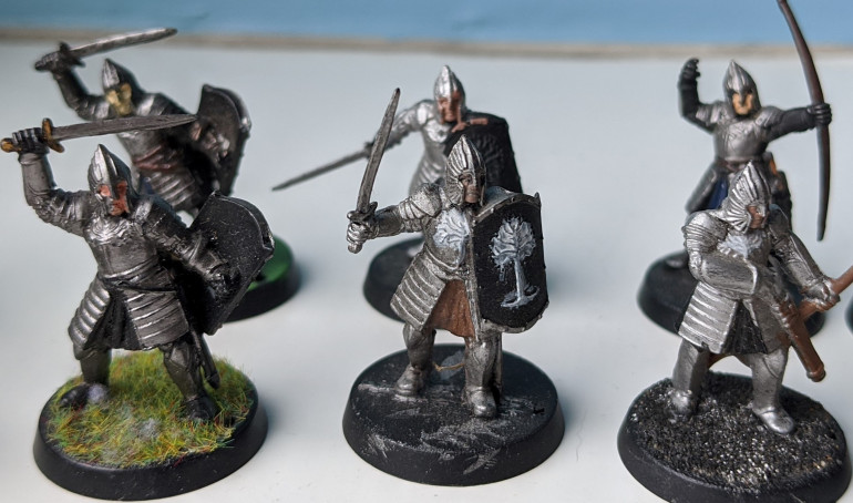 Warriors with sword or bow