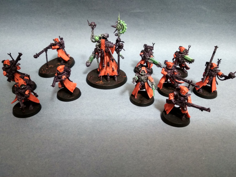 Second Tech-Priest Dominus and squad of Skitarii