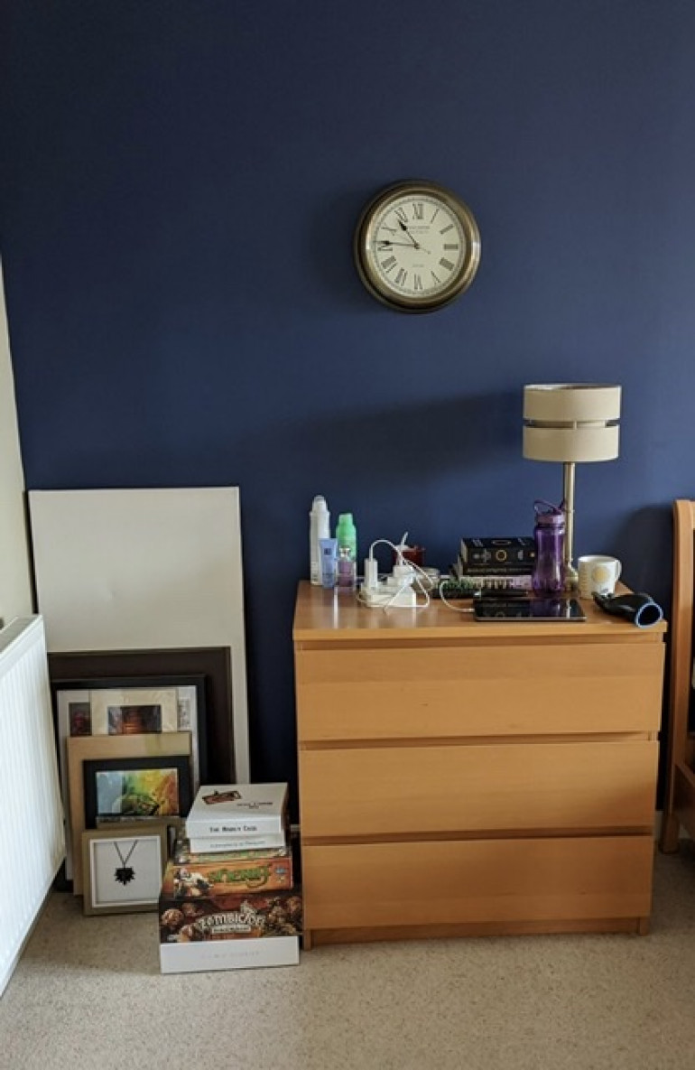 Nice little bit of wasted space in my bedroom to the left of the drawers is perfect