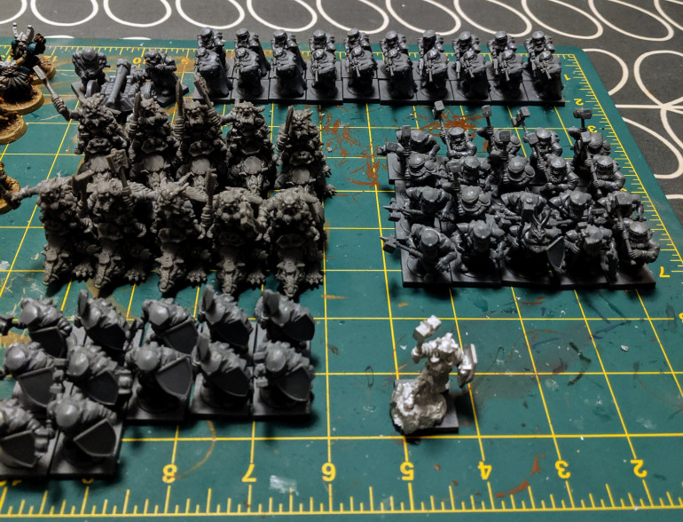 Nearly built the whole starter army.