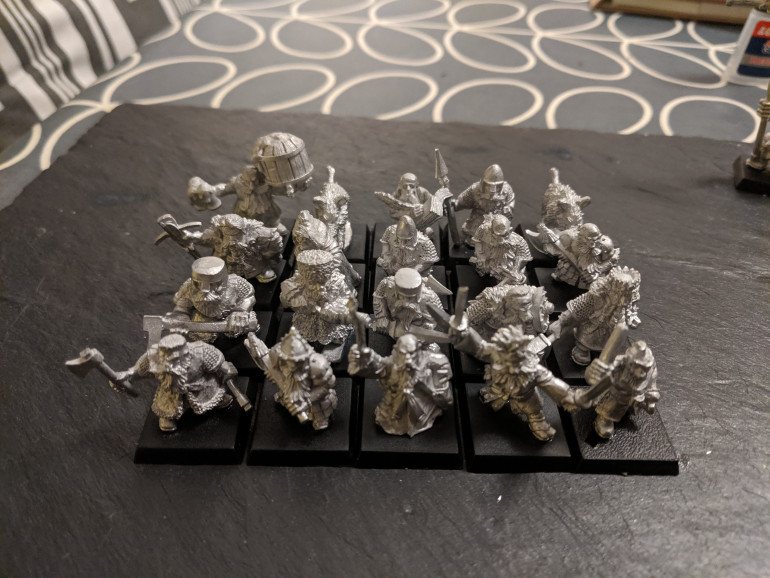 First up some Ral Partha models I got on Kickstarter. They're a right mixture so might work well as rangers.