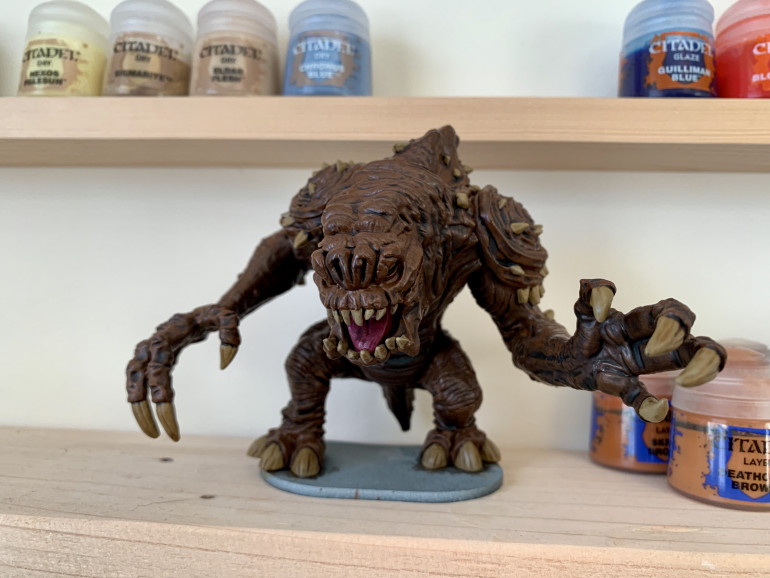 The Rancor after Stage 3 (primed, base coated and washed)