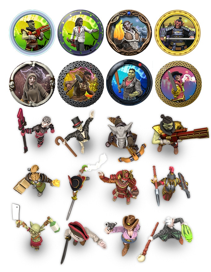 3D Hero Counters - Hero Forge