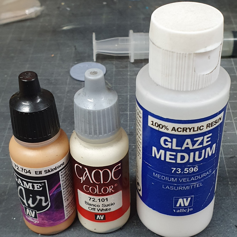Paints used for the face