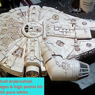 Finishing the hull painting