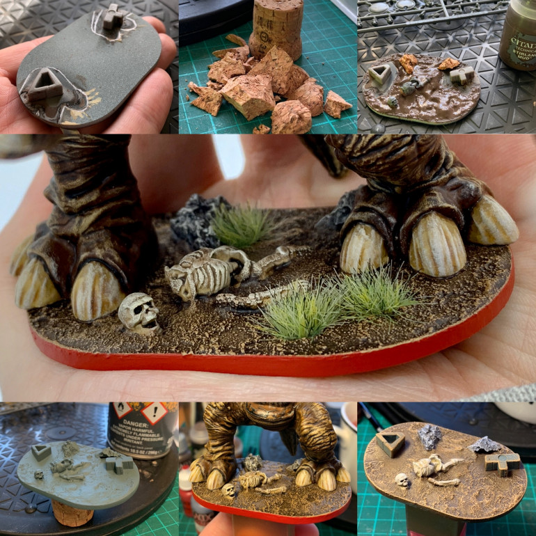 The steps I took from plain base, to swampy dread!