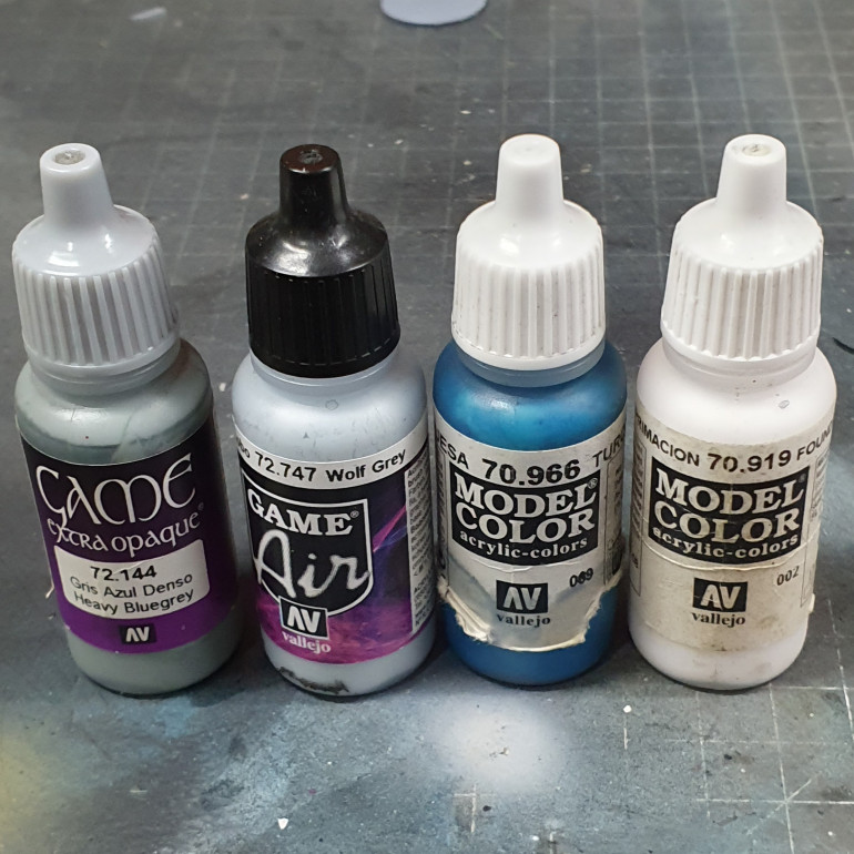 Paints used to paint the hardware and wings.