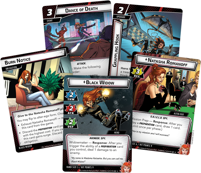 Black Widow Card Fan - FFG