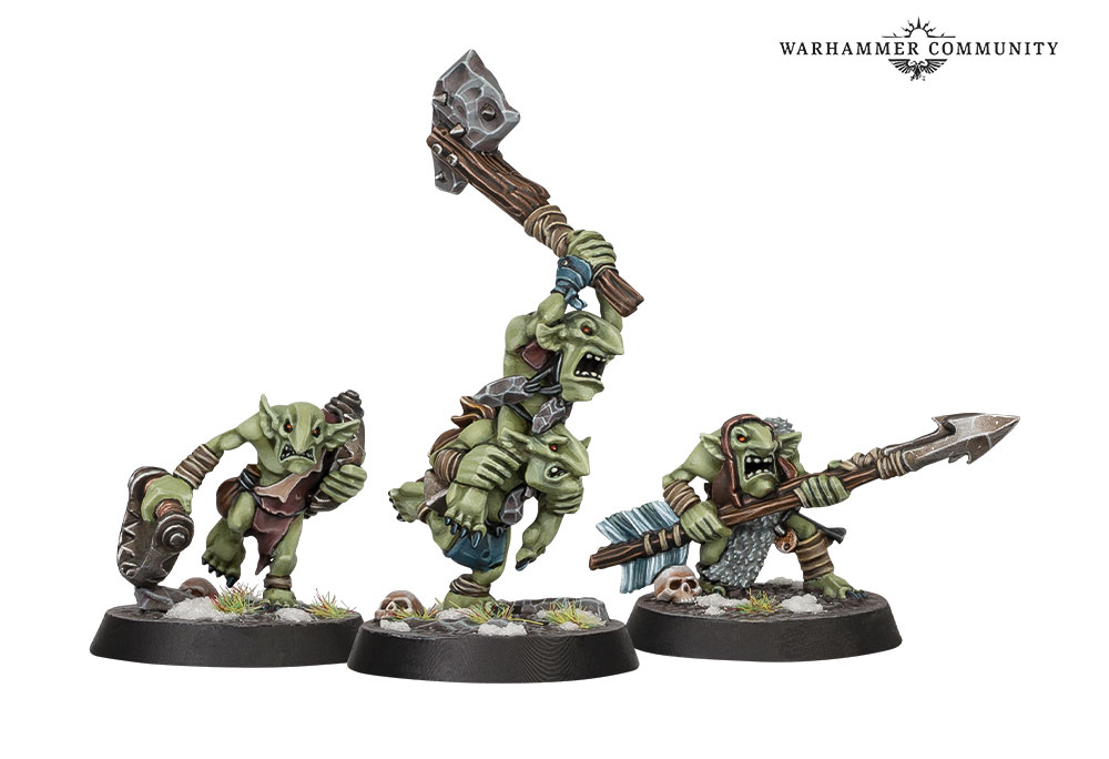 Hrothgorns Mantrappers Gnoblars - Age Of Sigmar