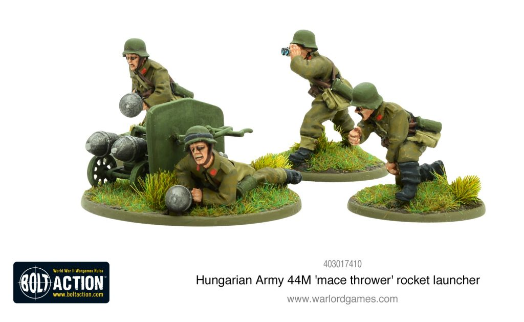 Hungarian Army 44M Mace Thrower Rocket Launcher - Warlord Games