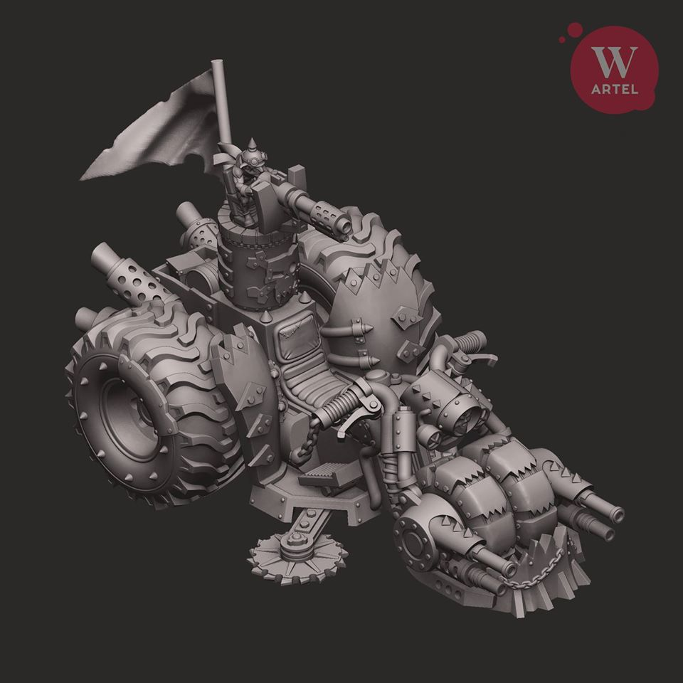 Iron Khan Turret - Artel W Miniatures