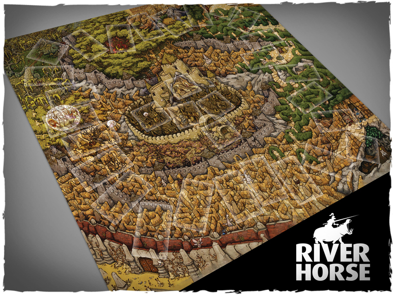 Labyrinth Board Game Mat #1 - River Horse