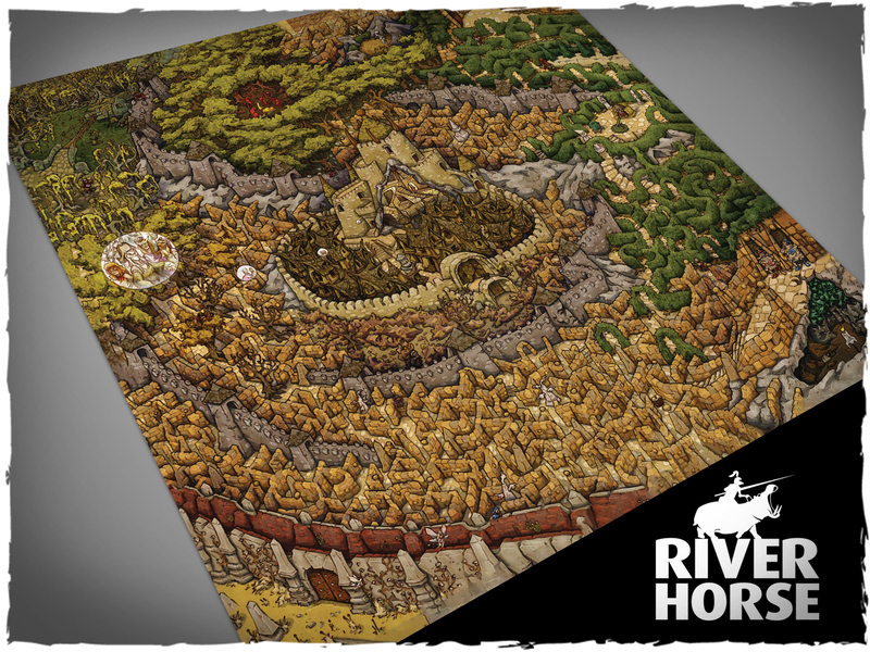 Labyrinth Board Game Mat #2 - River Horse