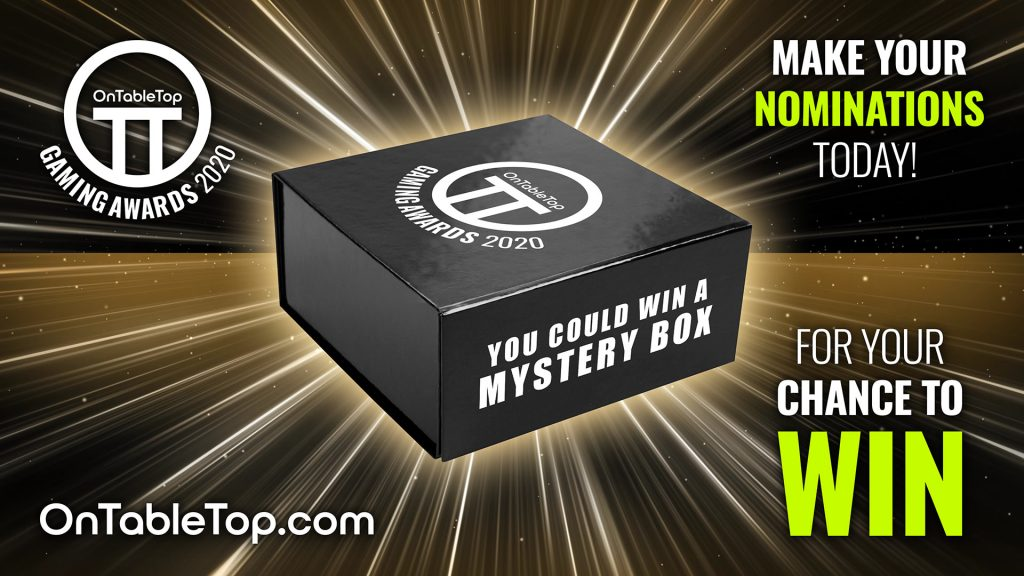 OnTableTop Gaming Awards 2020 Win A Mystery Box