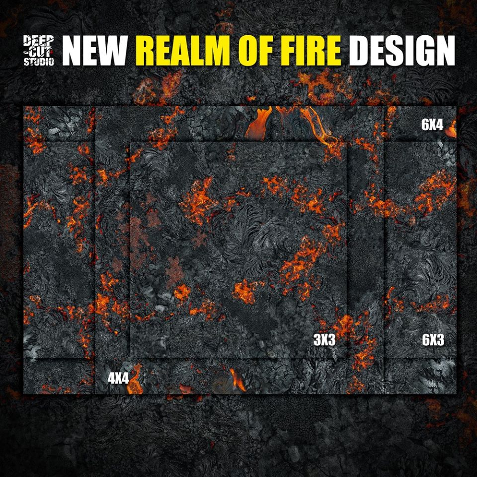 Realm Of Fire Mat - Deep Cut Studio