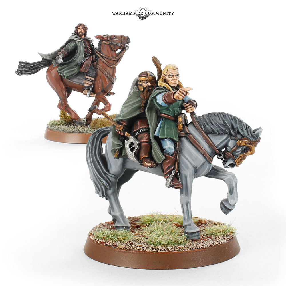 Three Hunters Mounted - Middle-earth SBG