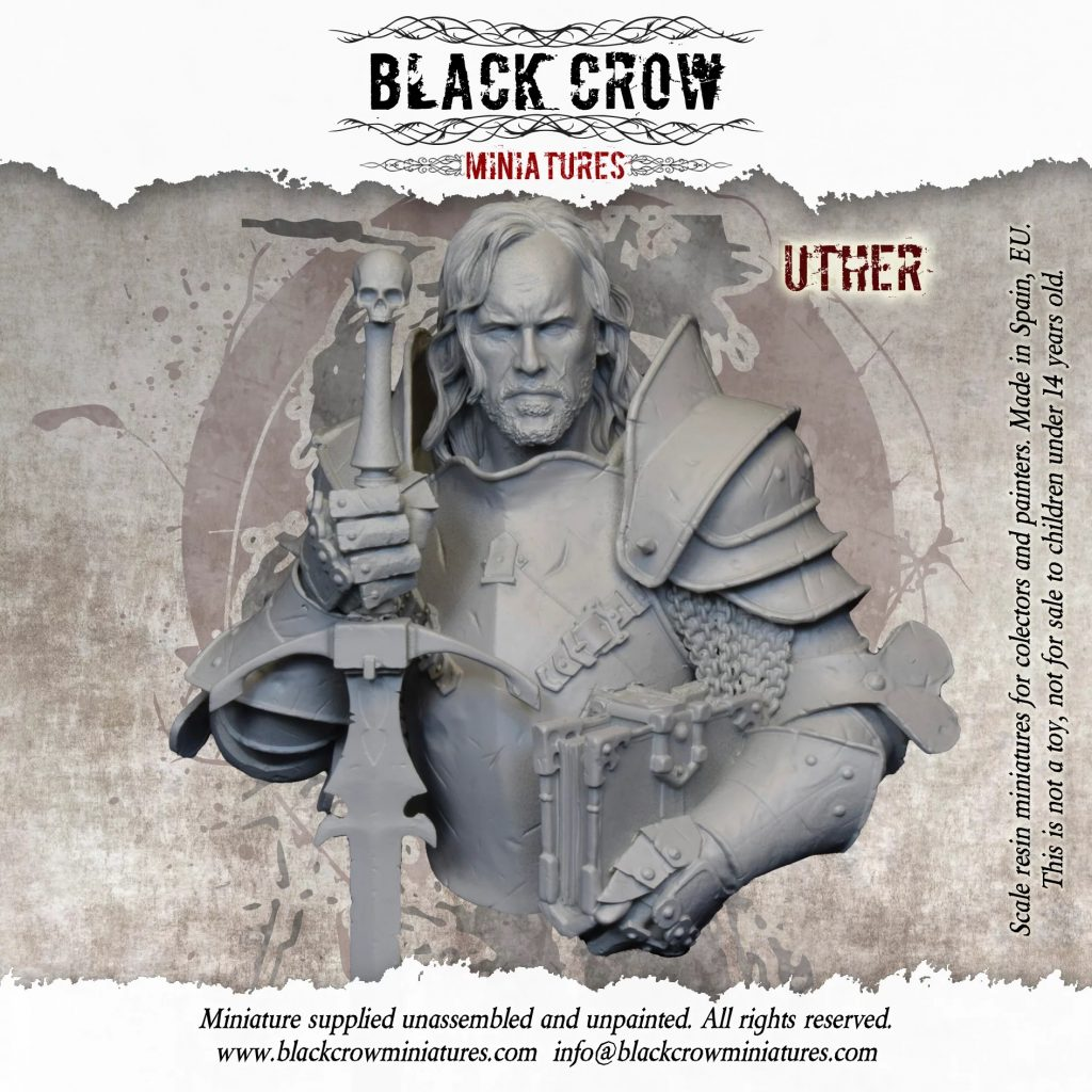 Uther Bust - Black Crow Miniatures