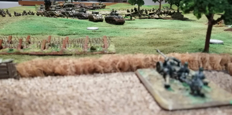 The PaK40 team prepare to fire on the 1st Canadian Armoured Brigade