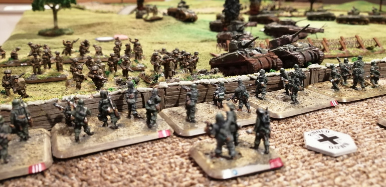 The Allies launch their assault on the Grenadiers