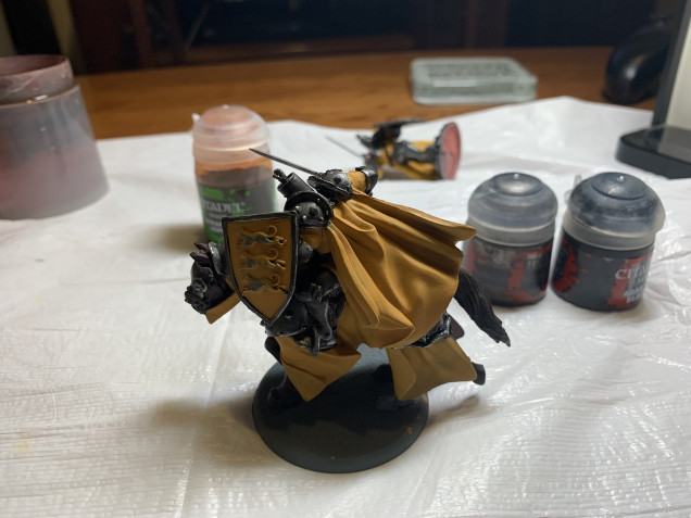 I spent the weekend painting a lot of yellow!