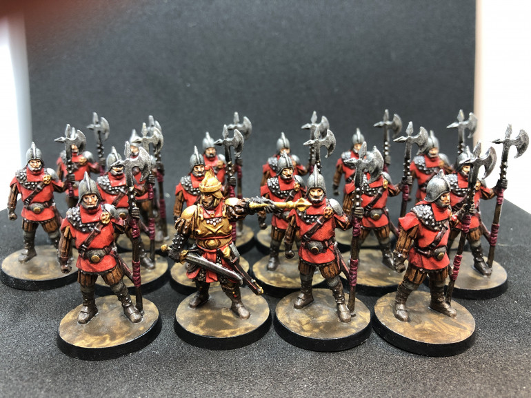 Guards have been painted and ready for action