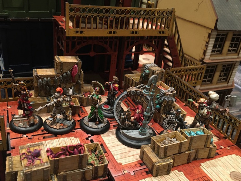 In the end my fencer gained two victory points by activating one of two objectives, the death of the Strigoi earned two as well, while Lady Ellendeane's rescue garnerned me three more.  So a final score of seven to zero that in no ways showed what a close fought affair it was.