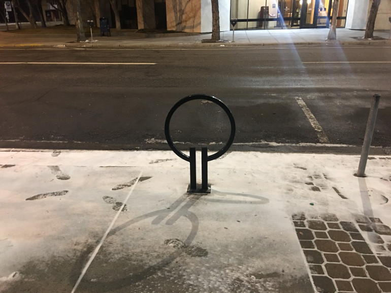 Clearly spending too much time on the site as all I can see in this bike lockup is the OTT logo.