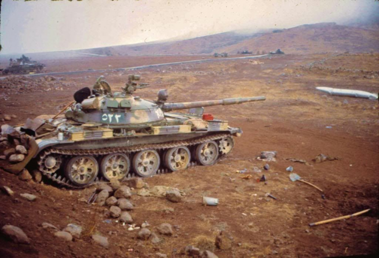 A classic image from the 1973 war, and possibly a reference for my paint scheme