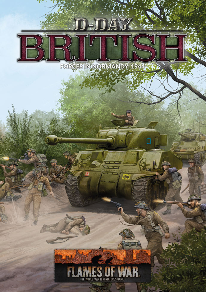D-Day British Book Cover - Flames Of War