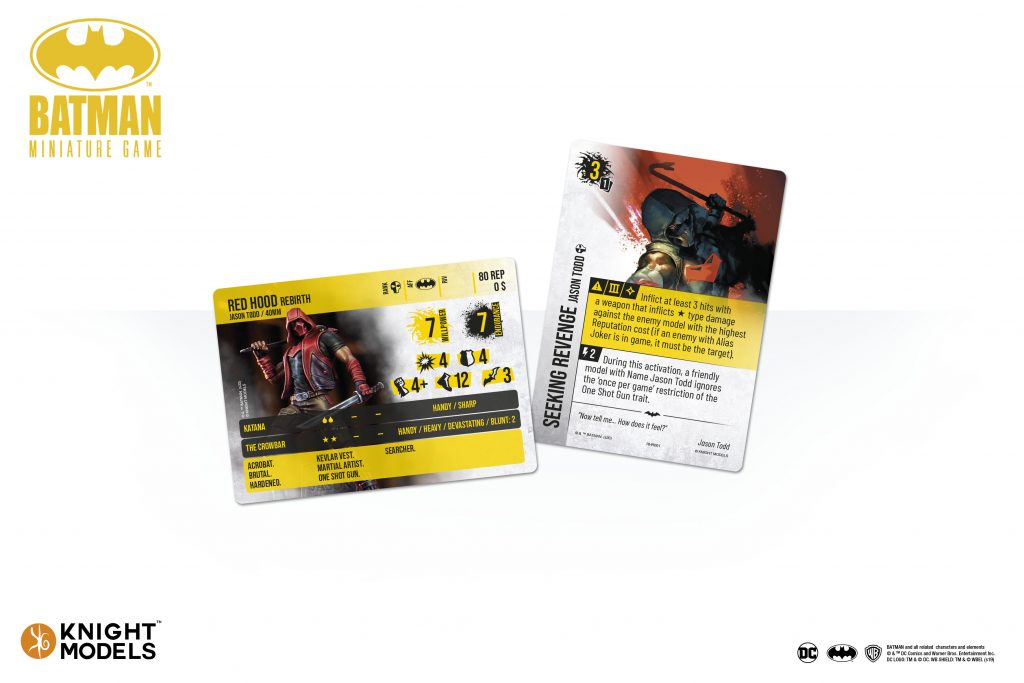 Jason Todd Cards - Knight Models