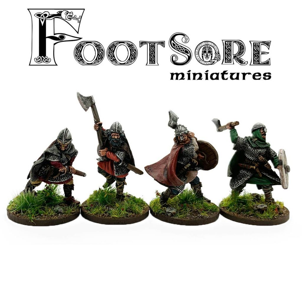 Late Saxon Huscarls With Hand Weapons - Footsore Miniatures