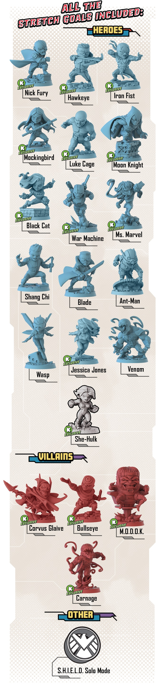 Marvel United Stretch Goals - CMON