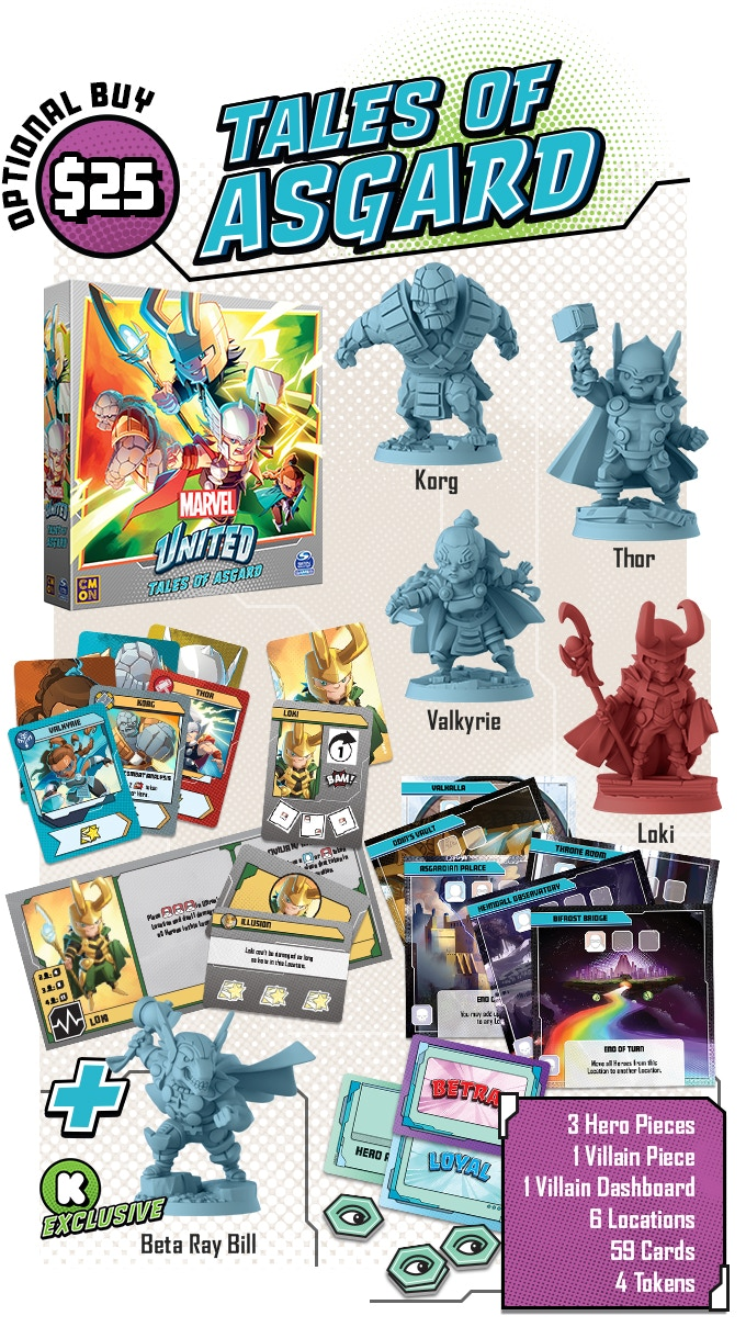 Marvel United Tales Of Asgard Expansion - CMON