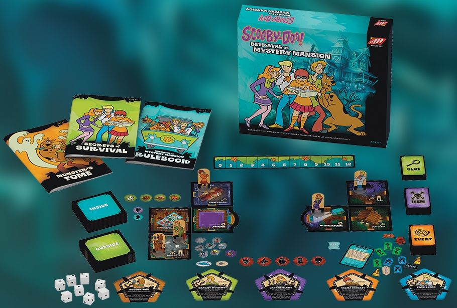 Scooby Doo Betrayal At Mystery Mansion Components - Avalon Hill