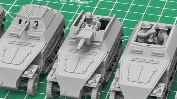 Check Out A Neu Sdkfz 250 15mm Kit From Plastic Soldier Company