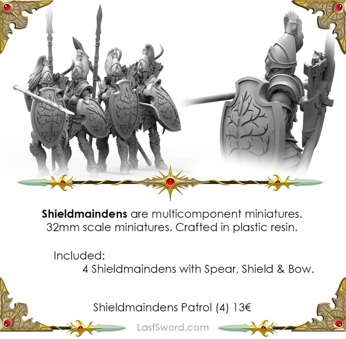 Shieldmaidens With Spears - Last Sword