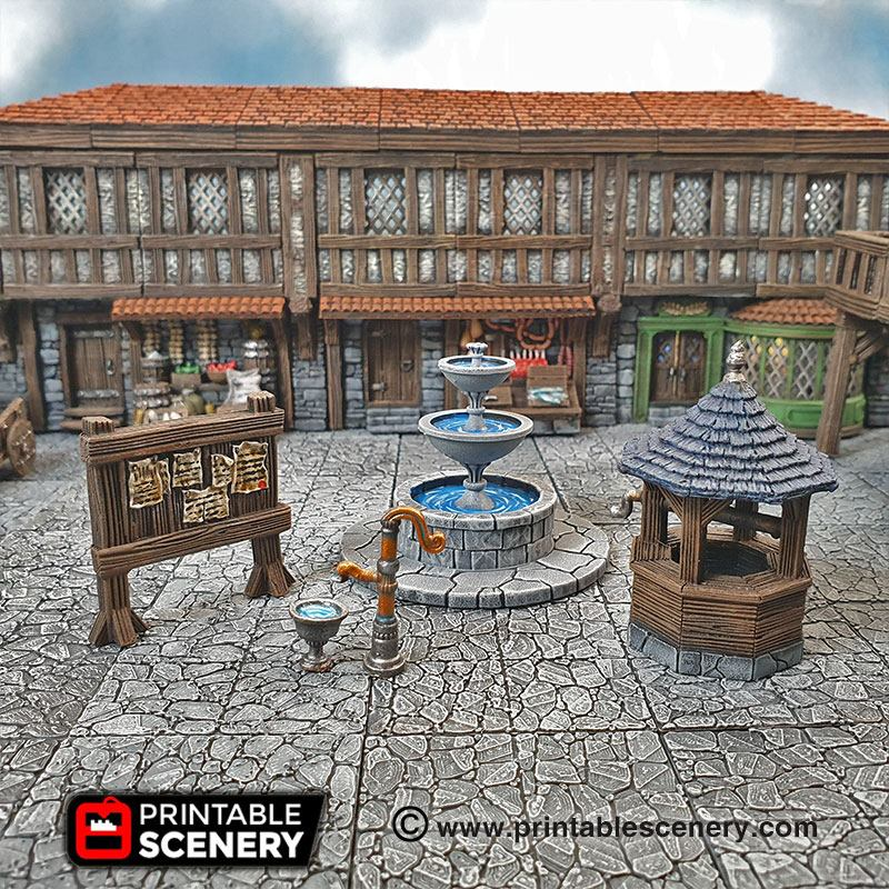 Town Square - Printable Scenery