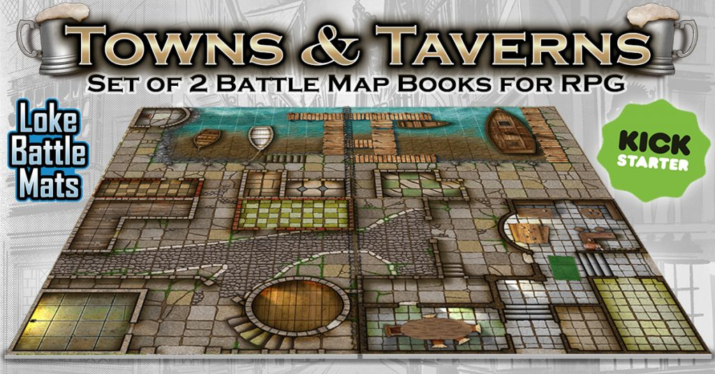 Towns & Taverns - Loke Battle Mats