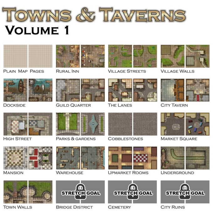 Towns & Taverns Volume I - Loke Battle Mats