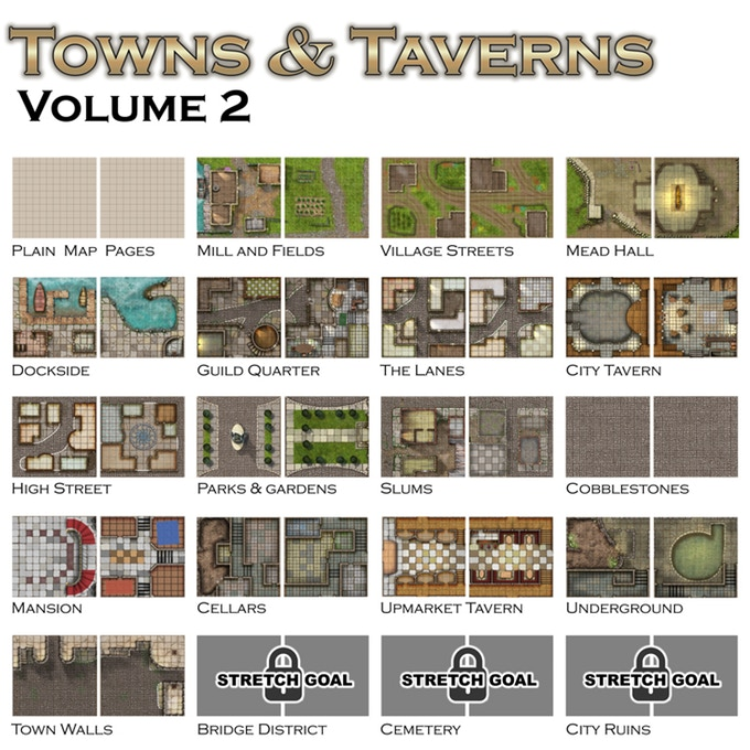 Towns & Taverns Volume II - Loke Battle Mats