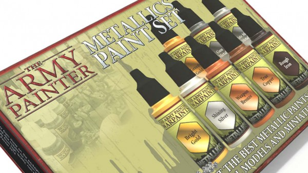 Grab A New Set Of Metallic Paints From The Army Painter Soon
