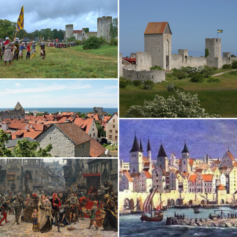 The Medieval town Visby on Gotland, Sweden