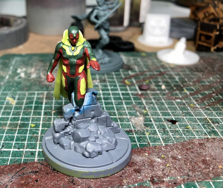 Now the base model is done i can attach the cape, there was no way i was painting him with it attached!