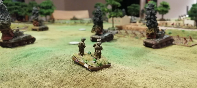 The Allied HQ survey the battlefield