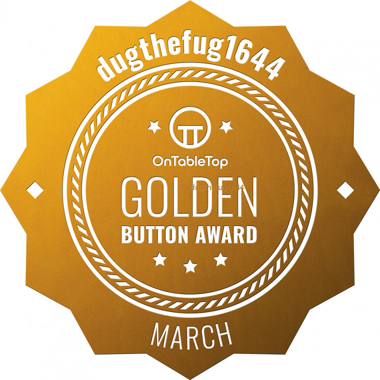 Yay!! Golden Blooming Button!!!