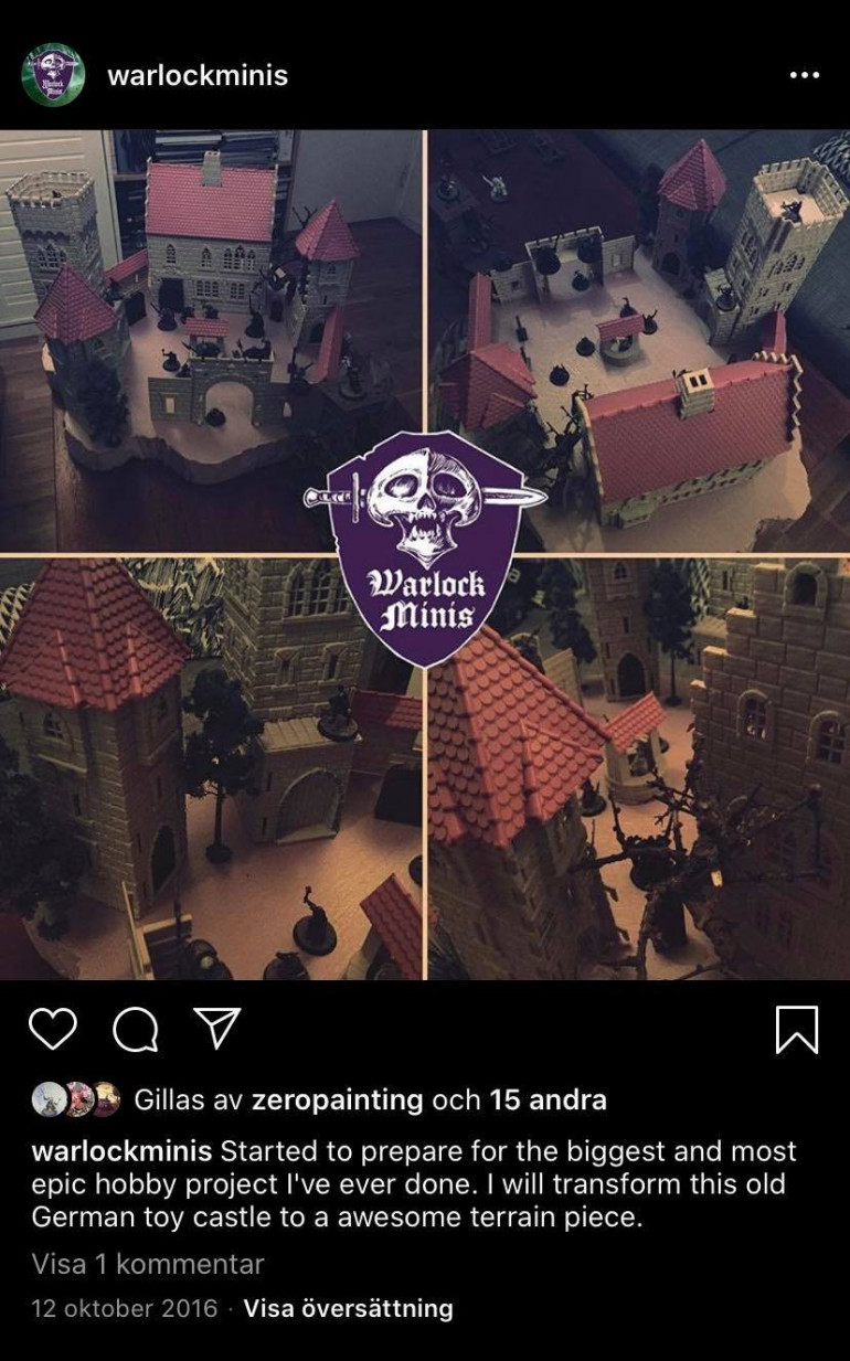 Here is an old post from my Instagram from 2016 when I had bought the castle and just had assembled it. I was so confident that I would do it haha!