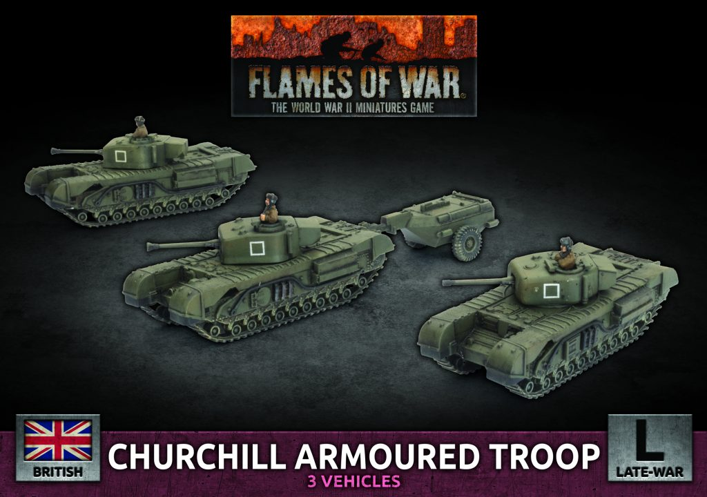 Churchill Armoured Troop - Battlefront Miniatures